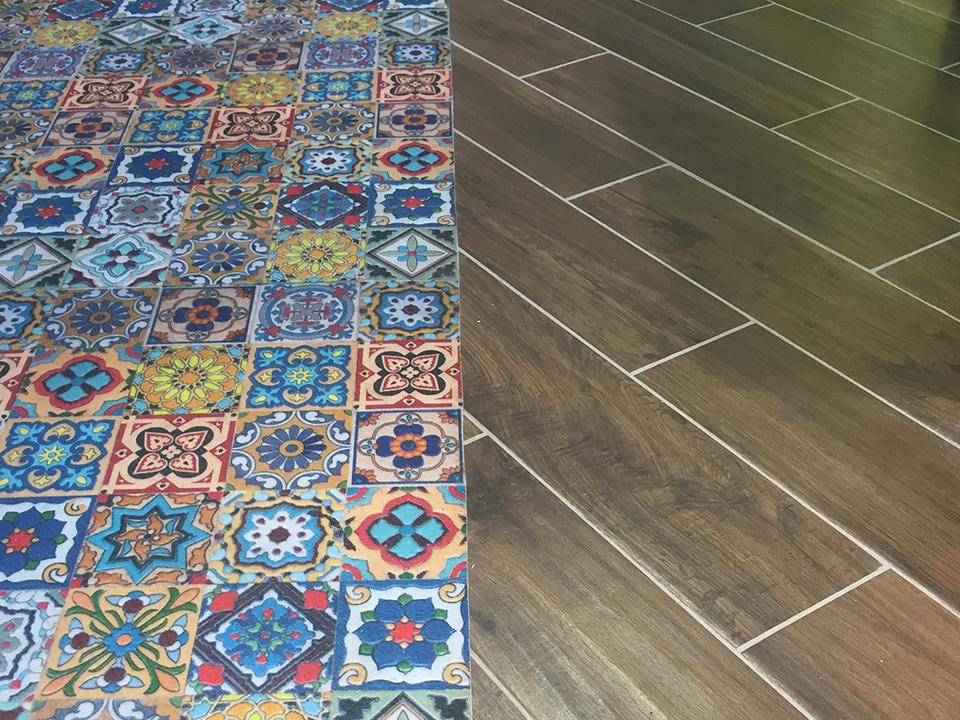 Vloervinyl geprint tapijt m printing b v